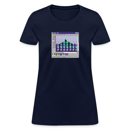 Desire windows xp paint whale edition - Women's T-Shirt