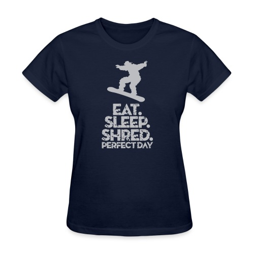 Snowboarder Shred - Women's T-Shirt