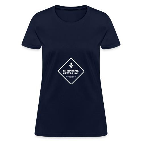 Loi 101 - T-shirt pour femmes