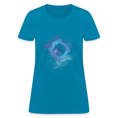 jrsplatcmyk2 - Women's T-Shirt