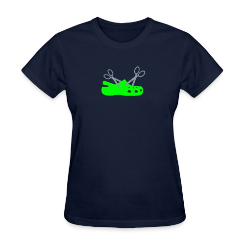 I Hate Crocs Scissor Design - Women's T-Shirt