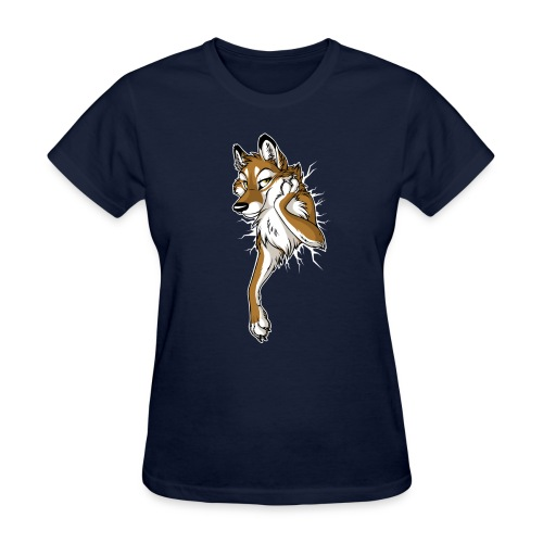 STUCK Wolf Caramel (double-sided) - Women's T-Shirt
