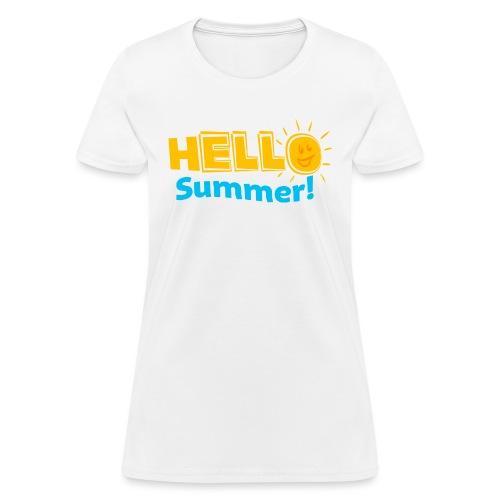 Kreative In Kinder Hello Summer! - Women's T-Shirt