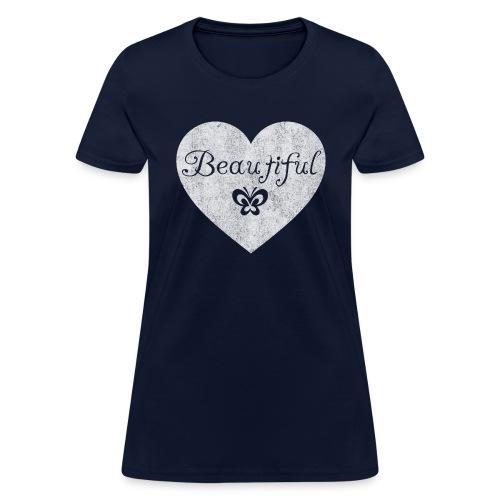Beautiful, w butterfly - Women's T-Shirt