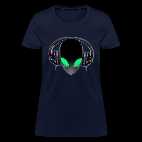 Alien Music Lover DJ (Simplified Fit All Design) - Women's T-Shirt