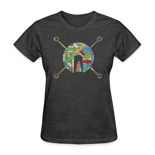 Shad0w Synd1cate Logo Word Cloud (Color) - Women's T-Shirt