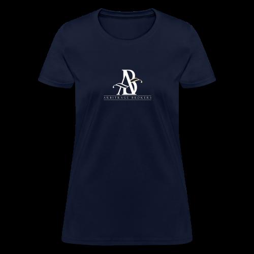 Arbitrage White Logo - Women's T-Shirt