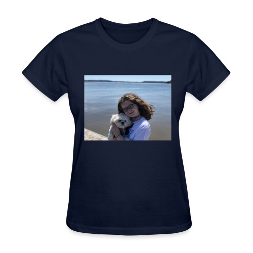 Cute Merch With Dog And Girl - Women's T-Shirt