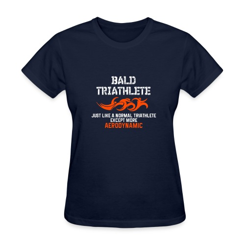 Bald Triathlete - Women's T-Shirt