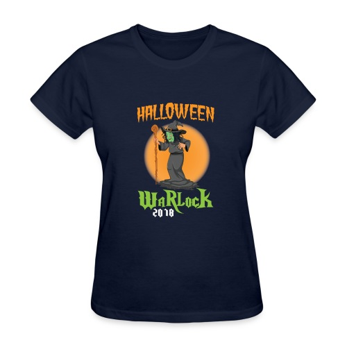 2018 Halloween Warlock Design - Women's T-Shirt