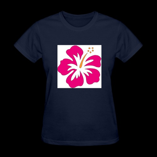 pink hibiscus hoodie - Women's T-Shirt