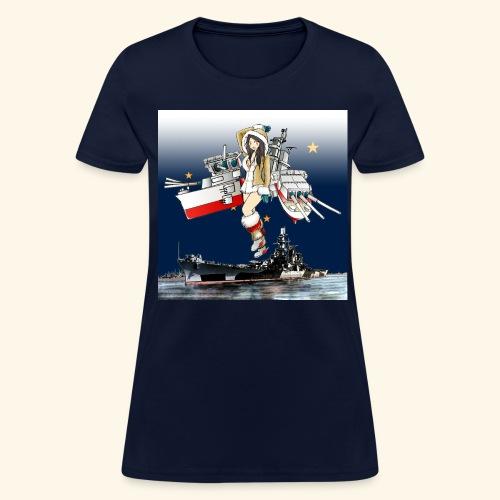 Battleship Ship Girl USS Alaska CB 1 Battlecruiser - Women's T-Shirt