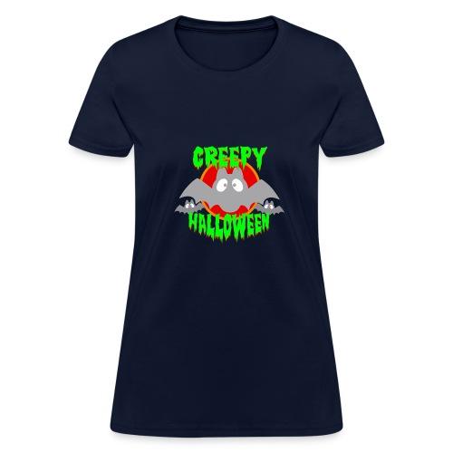 creepy Halloween bat Party - Women's T-Shirt