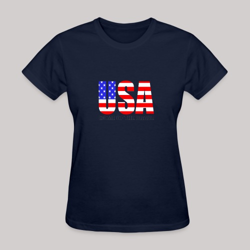 USA Home Of The Brave - Women's T-Shirt