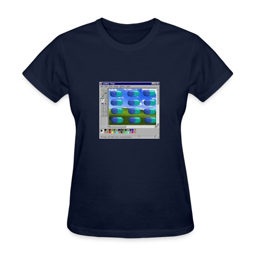 Desire windows xp paint edition - Women's T-Shirt