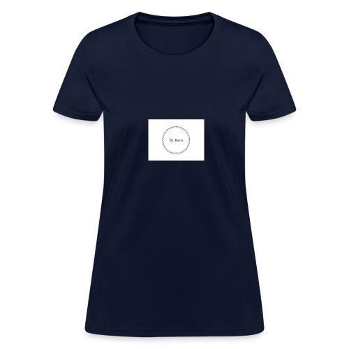 Blue Ring Volleyball (Katie) design logo - Women's T-Shirt