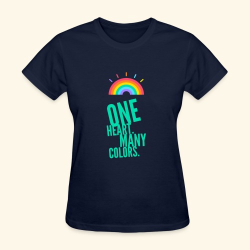 One Heart. Many Colors. - Women's T-Shirt