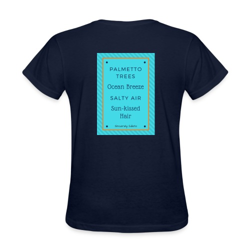 Palmetto Trees and Ocean Breeze - Women's T-Shirt