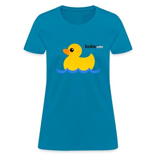 Hubs Duck - Wordmark and Water - Women's T-Shirt