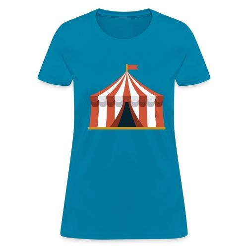 Striped Circus Tent - Women's T-Shirt