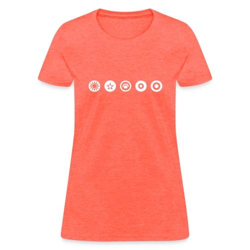 Axis & Allies Logos: China, USA, ANZAC, UK, France - Women's T-Shirt