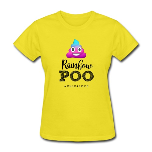 Rainbow Poo - Women's T-Shirt