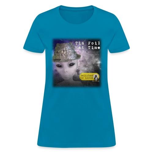 Tin Foil Hat Time (Space) - Women's T-Shirt