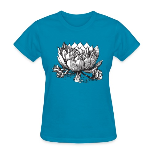 Vintage Artichoke Illustration - Women's T-Shirt