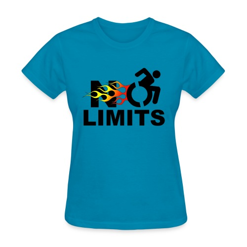 No limits for me with my wheelchair - Women's T-Shirt