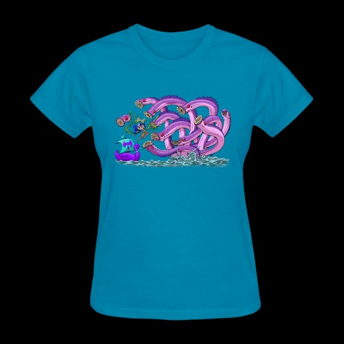 Axel The Mighty and the Lamprey Hydra - Women's T-Shirt