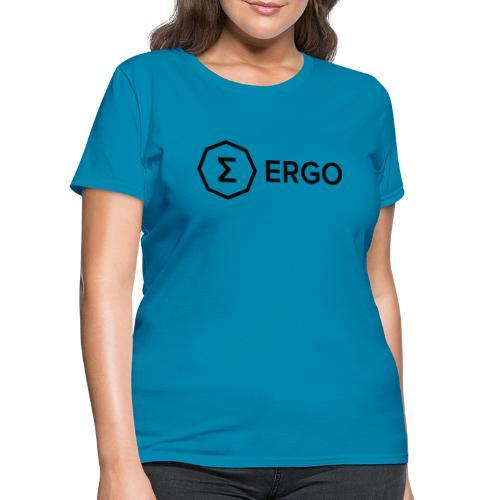 Ergo Symbol with Name - Women's T-Shirt