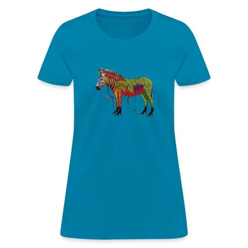Ned the Performing Zebra - Women's T-Shirt