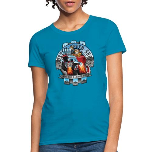 Custom Speed Shop Hot Rods and Muscle Cars Illustr - Women's T-Shirt