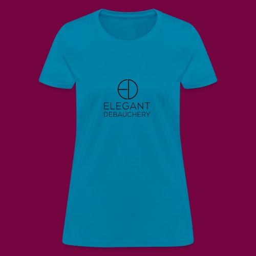 Elegant Debauchery Logo Stacked - Women's T-Shirt
