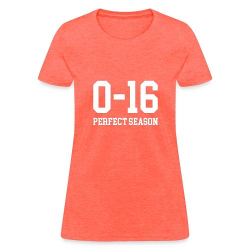 Detroit Lions 0 16 Perfect Season - Women's T-Shirt