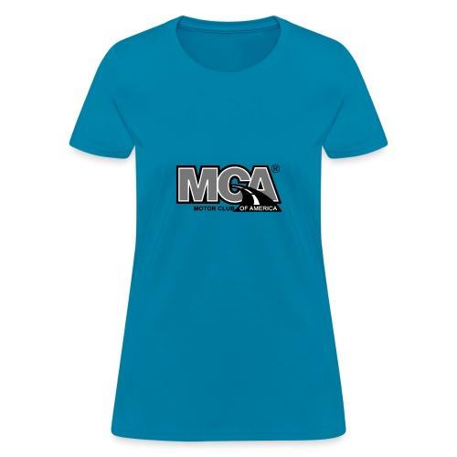 MCA Logo WBG Transparent BLACK WHITE TITLEfw fw pn - Women's T-Shirt