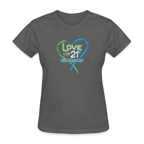 Down Syndrome Love (Blue/White) - Women's T-Shirt