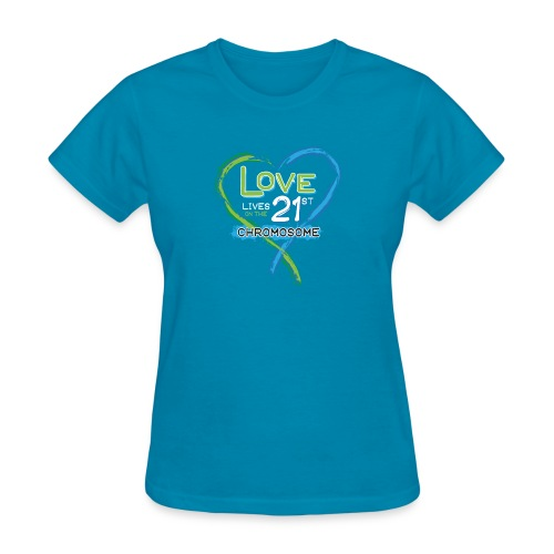 Down Syndrome Love (Blue/White) - Women's T-Shirt