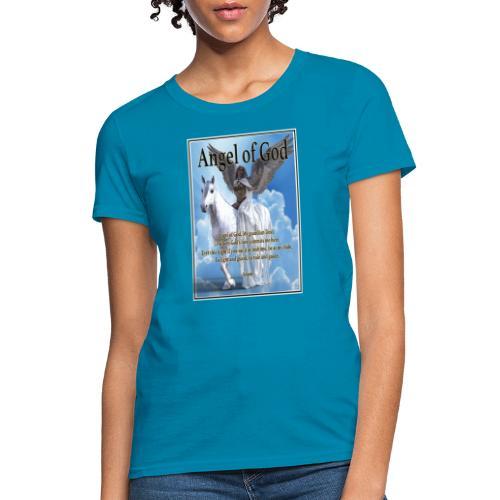 Angel of God, My guardian Dear (version with sky) - Women's T-Shirt