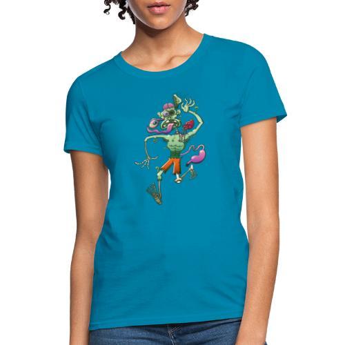 Zombie in Trouble Falling Apart - Women's T-Shirt