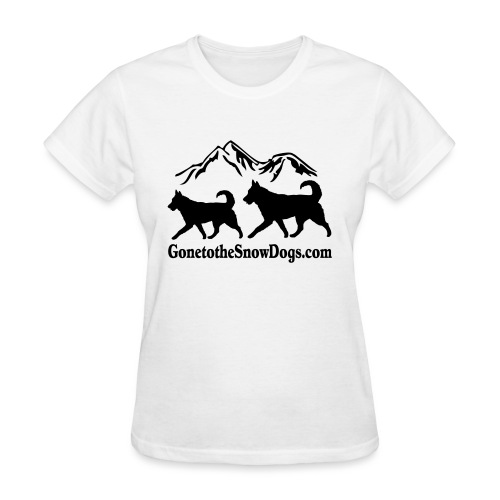 Snow Dogs with Mountain - Women's T-Shirt