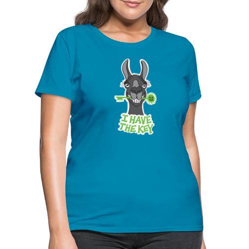 Proud black llama has the key against coronavirus - Women's T-Shirt