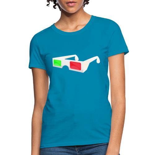 3D red green glasses - Women's T-Shirt