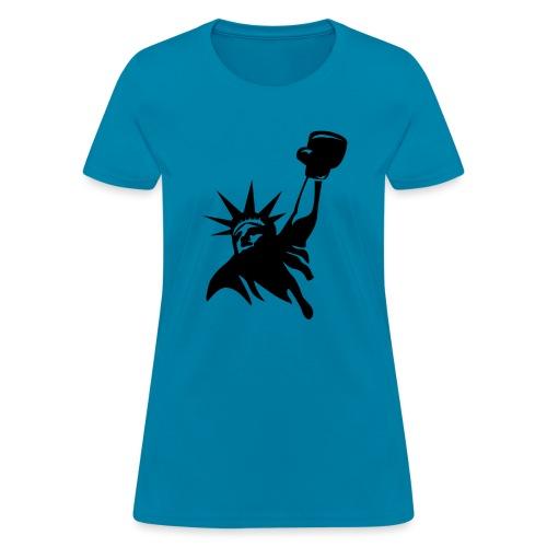 Lady Liberty Design w/ Black RSB Logo - Women's T-Shirt