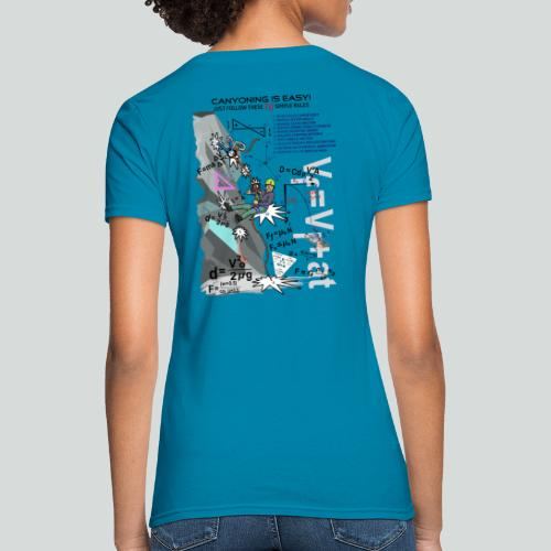 CANYONING IS EASY-on light back-2 sided - Women's T-Shirt