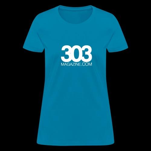 303 Magazine — White Logo - Women's T-Shirt