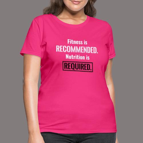 Mens_Nutrition_Black - Women's T-Shirt