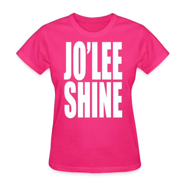JO'LEE SHINE WOMEN'S T SHIRT WHT/PNK