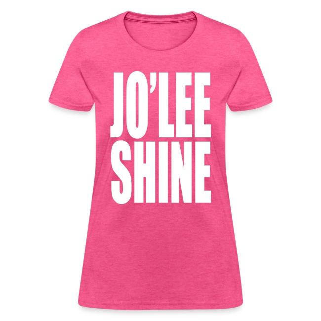 JO'LEE SHINE WOMEN'S T SHIRT WHT/PNK