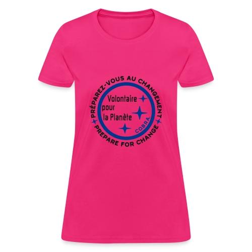 Écolo francais homme blanc texteno2 - Women's T-Shirt